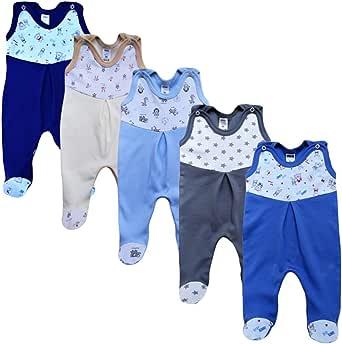 MEA BABY Baby Wickelshirt Langarm Baumwolle 5er Pack Wickelshirt Baby M/ädchen Wickelshirt Baby Junge