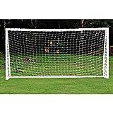 eecoo Red para Portería de Fútbol, Repuesto para Fútbol, Fútbol Redes Profesionales Deportes al Aire Libre Formación y Match (6 x 4 pies, 8 x 6 pies, 12 x 6 pies, 24 x 8 pies), 6X4 FT (6X4 FT)