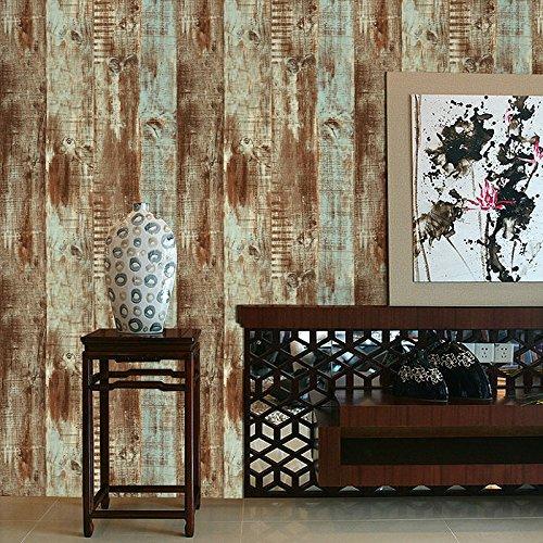 JSLCR Amerikanisches Persönlichkeit Wallpaper Holz Holzmaserung Hintergrundbilder und Retro-Kleidung Shop Bar und Restaurant der Barbershop Streifen Tapete