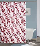 #7: Yellow Weaves PVC Floral Shower Curtain 54X84 Inches- 8 Hooks