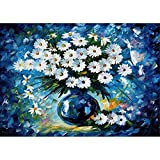 #7: DIY 5D Full Drill Diamond Painting Rhinestone Embroidery Cross Stitch Arts Craft for Home Decoration Painting White Daisies 30 * 40 cm