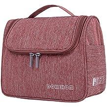 77479d171 DOKEHOM Neceser de Viaje para Colgar Bolsas de Aseo Cosméticos Organizador  Accesorios de Baño Material Resistente