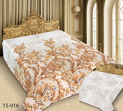 Tagesdecke 15-016 'Barock' 240 x 220 cm, 200 x 220 cm , 180 x 220 cm Bettüberwurf Bettdecke...