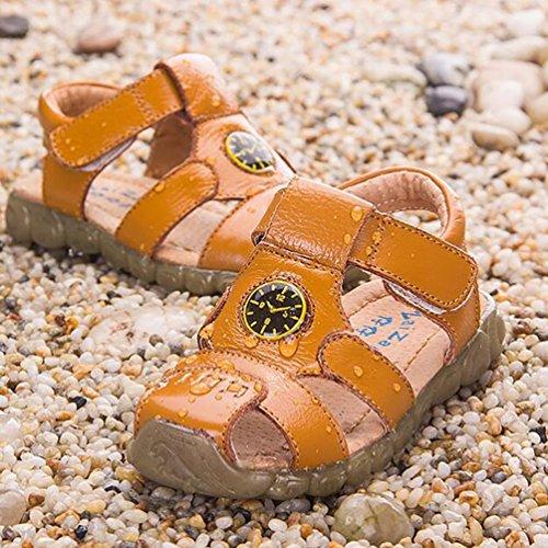 CHENGYANG Garçon Fisherman Sandales Bout Fermé Chaussures de plage Mixte Enfant Jaune