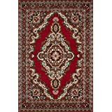 Lalee 347057146 Sahara 102 - Alfombra (120 x 170cm), color rojo
