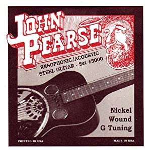 John Pearse Strings Resophonic Guitar Set - Nickel