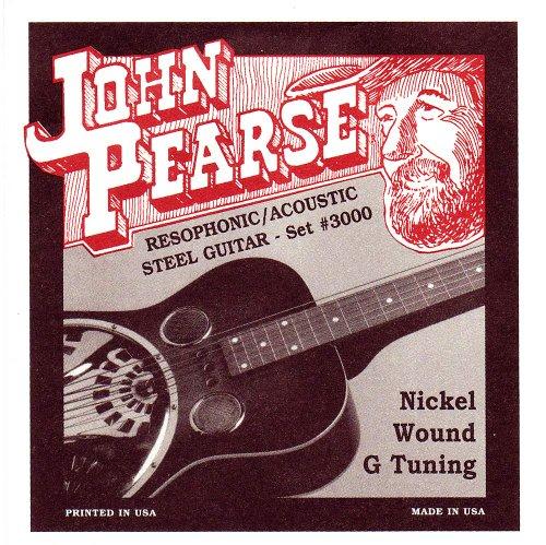 John Pearse 3000 JP Resophonic Gitarre Saiten, Nic