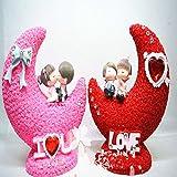 Luna par moneda banco guarro salón decoraciones adornos ahorre dinero caja pareja romántica hucha boda dinero caja chica linda alcancía romántico-C 19.5x10.5x22cm(8x4x9inch)