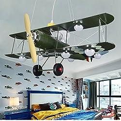 GaoHX Light Iluminación De Aviones Vintage Camuflaje Americano Niños Lámparas De Dormitorio Sala Lámpara Niños