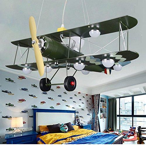 GaoHX Light American Vintage Camouflage Flugzeug Beleuchtung Kinder Zimmer Kronleuchter Jungen Schlafzimmer Lampen (Camouflage-lampen Für Wohnzimmer)