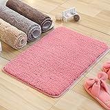 XINQING toilette toilette matte matte tür badezimmertür bad, schlafzimmer teppich haushaltswasser antiskid matte 50 x 80 cm,50*80cm,Pink,