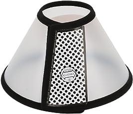 Vivifying Halskrause für Haustiere, 20.5cm Leichter Kunststoff Elisabethanischer Kragen für Katzen, Kleine Hunde und Kaninchen (Schwarz)