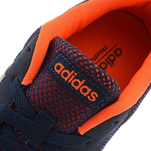 adidas Lite Racer, Chaussures de Sport Homme, Noir, EU Gris-Orange-Bleu marine