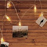 Roomando Lichterkette Foto-Clip mit 10 LEDs ALS Wäscheklammern 10 Clips Bilder Fotos