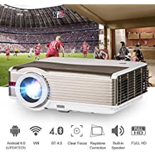 HD Video Projector Bluetooth WiFi 1080P 4200 Lumen Wxga Wireless Home Cinema LED LCD Projector Outdoor Movie Gaming HDMI USB Airplay Android Smartphone Beamer for TV DVD Xbox Blu Ray