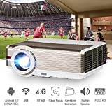 HD Video Projektor 1080P WXGA Wireless Home Cinema LED LCD Projektor Outdoor Movie Gaming HDMI USB Airplay Android Smartphone Beamer for TV DVD XBOX Blu Ray Wireless BLuetooth Projector HD