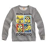 Ich Einfach Unverbesserlich - Minion Kinder Sweatshirt Shirt Gr. 116-152, Farbe:Grau, Größe:128