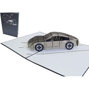 3d Karte Sportwagen I Pop Up Karte Als Gutschein Geburtstagskarte