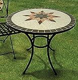 Garden Table Constanza, Mosaic Furniture in Mediterranean Style, table Round 70 cm