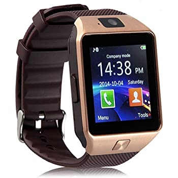 E-Cosmos Bluetooth DZ09 Smart Watch Wrist Watch Phone with Camera, Moto G5 Plus Compatible