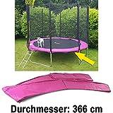 Carparts-Online 28329 Sicherheits Schutz Rand Abdeckung für Trampolin Sprungfedern 366 CM pink
