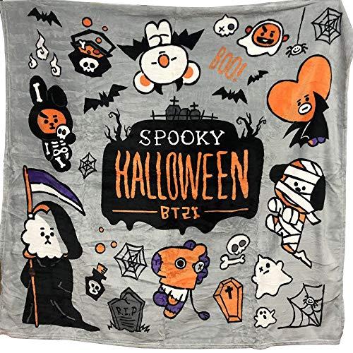 Lifestar Kpop BTS Halloween-Decke BT21 Bangtan Jungen superweich, doppelseitig Bedruckt, Nickerchdecke (Halloween Bts Kpop)