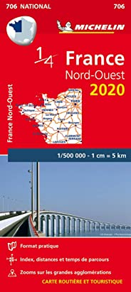 Carte France Nord-Ouest Michelin 2020