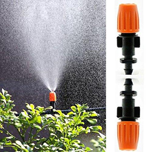UxradG 50Garten Bewässerung Verstellbar Zerstäuberfunktion Micro Flow Tropfer Head Sprinkler Bewässerung Spritze Zerstäuberfunktion Düsen 1/10,2cm Schlauch für Landwirtschaft, Rasen, Garten (Micro Düse)
