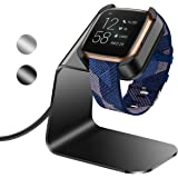 KIMILAR compatibel met fitbit versa 2 oplader, exclusieve aluminium oplaadkabel compatibel met fitbit versa 2 smartwatch, zwa