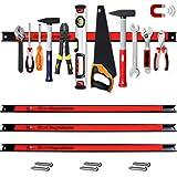 Deuba Set de 3 Tiras magnéticas 60cm para herramientas organización taller pared cocina capacidad 23Kg