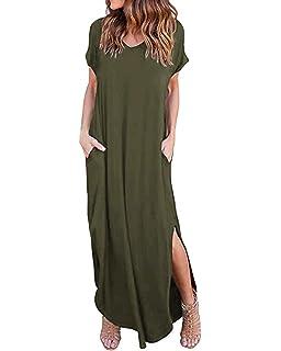 Essentials Womens Surplice Maxi Dress