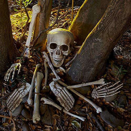 THE TWIDDLERS Halloween Saisonale Dekoration Tasche mit 25 gruseligen Knochen - Perfekt für Halloween Party deko Feiern - Ideal für Party Requisiten - 2