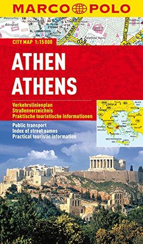 MARCO POLO Cityplan Athen 1:15 000: Stadsplattegrond  1:15 000 (MARCO POLO Citypläne)