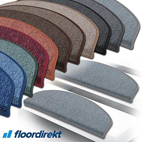 """Floordirekt 15 Stück Preiswerte Stufenmatten """"London"""" halbrund und rechteckig in 11 Farben (eckig, groß, anthrazit)"""