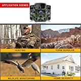 """Toguard Trail Camera 14MP 1080P Infrared Night Vision Game Camera Motion Activated Wildlife Hunting Cam 120° Detection with 0.3s Trigger Speed 2.4"""" LCD Display IP56 Waterproof Bild 5"""