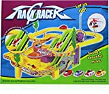 #2: Track Racer Racing Car Set, With Helicopter Battery Operated Musical Kids Game Multi Color