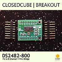 ClosedCube DS2482-800+ I2C to 8-Channel 1-Wire Bridge Breakout Board