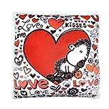 Sheepworld 42379 Plüsch-Kissen, Motiv Love, kleines Zierkissen, 25 cm x 25 cm