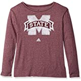 NCAA Mississippi State Bulldogs Womens Her Full Color Primary Logo L/s Crew Teeher Full Color Primary Logo L/s Crew Tee, Maroon, Small