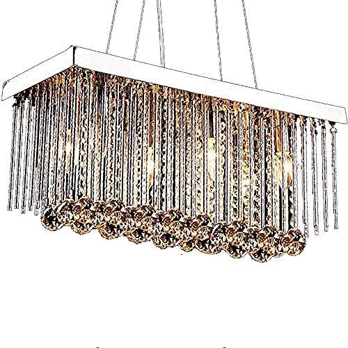 SCCL 6 Licht Kristall Kronleuchter Chrom Metall Kristall Kronleuchter LED Wohnzimmer Esszimmer Schlafzimmer Dekoration Lampen Komfort erleben - 6 Licht Chrom Kronleuchter