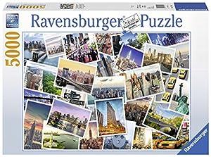 Ravensburger 174331 Puzzle - Rompecabezas (Rompecabezas con Pistas Dibujadas, Ciudad, Adultos, Niño/niña, 14 año(s), 430 mm)