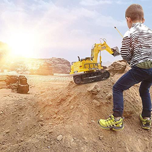 RC Auto kaufen Baufahrzeug Bild 2: New Top Race® 7-Kanal voll funktionsfähiger Bagger, elektrischer Bautraktor mit RC Fernbedienung (TR-111)*
