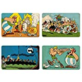 Asterix der Gallier - Asterix, Obelix, Miraculix & Majestix Frühstücksbrettchen 4er Set - farbig - Lizenziertes Originaldesign - LOGOSHIRT