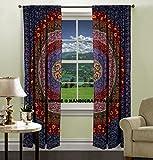 Indian Tür Fenster Balkon Vorhänge Boho Mandala Fall Volants Vorhang Tuch handgefertigt Vorhang Tapisserie Überwurf von handicraft-palace