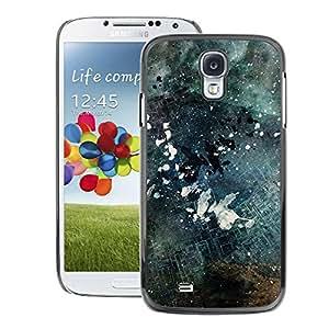 skcase Center/Hartschalen-Schutzhülle aus PU-Leder, Schwarz/Weiß Grunge–Samsung Galaxy S4