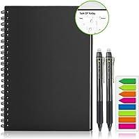 Homestec Réutilisable Carnet de planificateur, Organisateur personnel A4 Smart Notebook Effaçable Stockage en ligne…