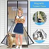 Tdbest Magnet Fliegengitter Tür 90x210cm, Sekey Magnetvorhang zum Insektenschutz, idealer magnetischer Fliegengitter für Balkontür, Kellertür,Klebmontage ohne Bohren