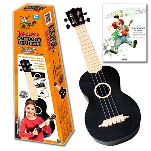 Voggy's Outdoor Ukulele mit Ukulelenschule - das unverwüstliche Musikinstrument für drinnen und draußen und Ukulelenschule von Martin Rube für Kinder im Vor- und Grundschulalter