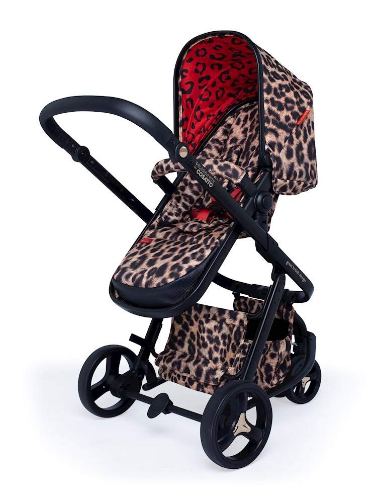 Cosatto Paloma Faith Giggle Pram and Pushchair Hear Us Roar - Leopard Print Cosatto Giggle 3 is your classic nippy 3-wheeler, lightweight but sturdy and super easy to use The from-birth carrycot, (suitable for occasional overnight sleeping), converts to pram mode Reversible pushchair unit when they're ready to sit up 3