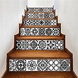 Best Limpiadores de piso de la cocina - LT&DM Pegatinas escaleras 3D Reformado DIY Calcomanías de Review